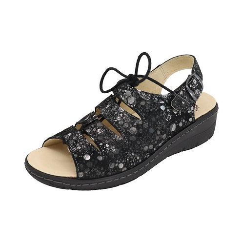 Doc Comfort Damen Sandalette Schnürer in schwarz