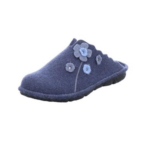 Romika Hausschuh Mikado 111 blau Filz