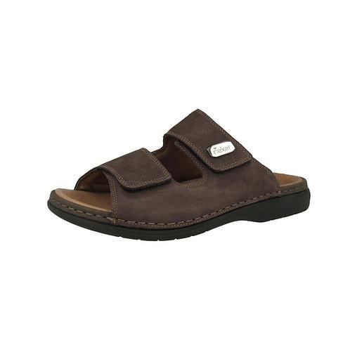 Rieker Herren Sandale mit Klettverschluss in braun
