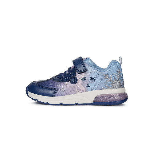 Geox Kinder Sneaker J Spaceclub G.D in navy/lilac