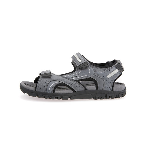 Geox Herren Sandale U S.Strada D in stone/light grey
