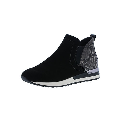 Remonte Damen Sneaker Halbhoch in Schwarz/Rauch