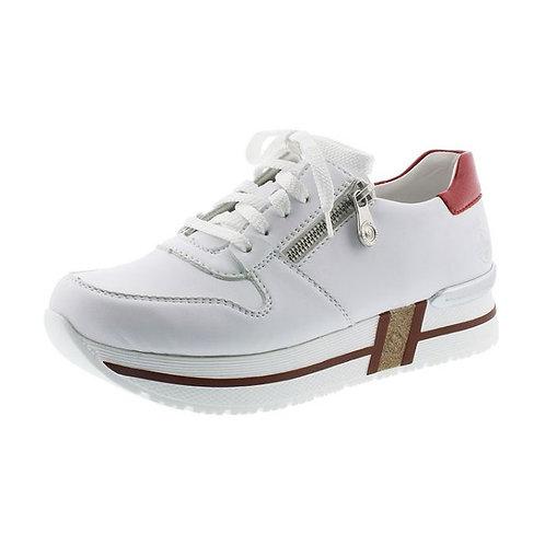 Rieker Damen Sneaker in weiss/flamme