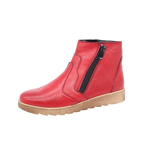 Doc Comfort Damen Stiefel mit Reißverschluss in Rot (Fire)