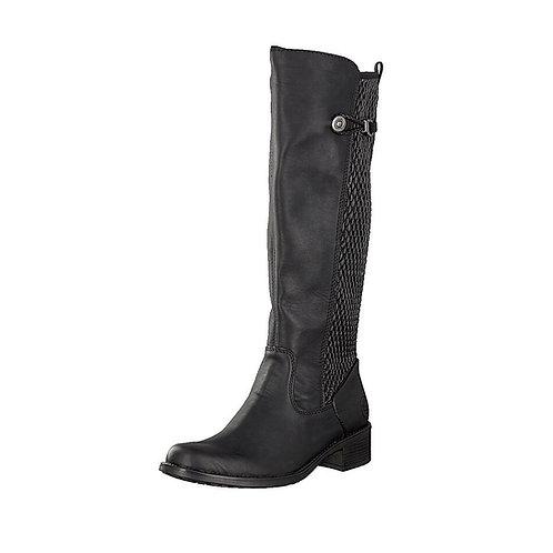 Rieker Damen Stiefel mit Reißverschluss und Futter in schwarz