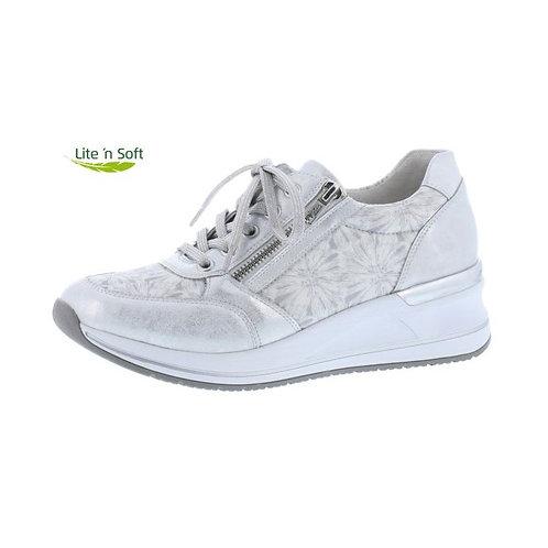 Remonte Damen Halbschuh Sneaker in ice/reinweiss/silber