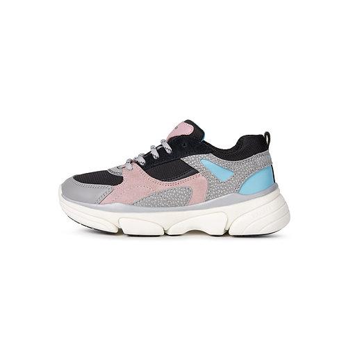 Geox Kinder Sneaker J Lunare G. D in grey/rose