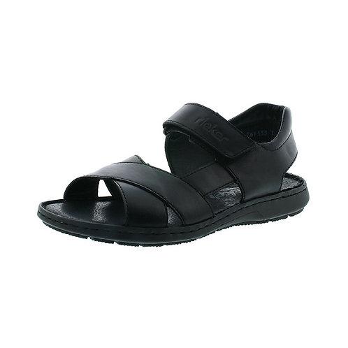 Rieker Herren Sandale in nero (schwarz)