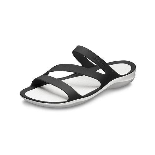 Crocs Women's Swiftwater™ Sandal in Black/White (Schwarz/Weiß)