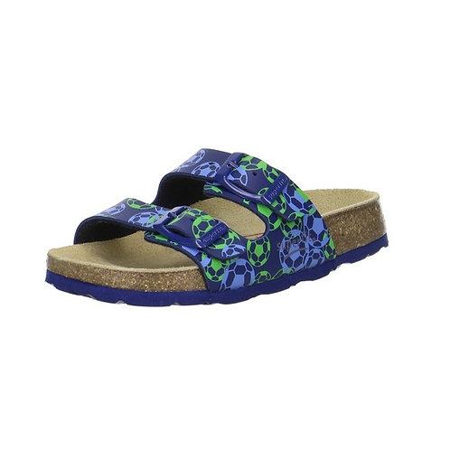 Superfit Hausschuh Fußbettpantoffel (Ocean Multi)