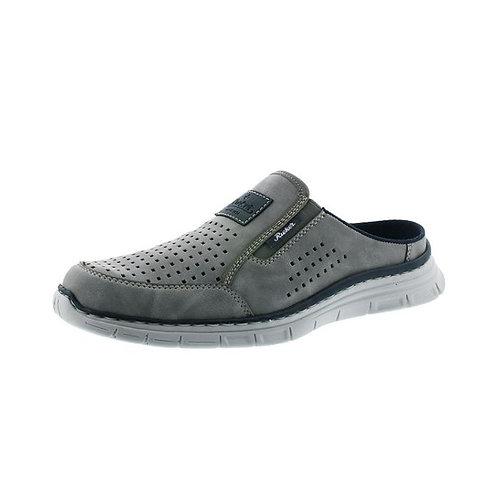 Rieker Herren Sandale in grigio/denim (Grau/Blau)