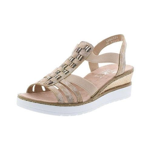 Rieker Damen Sandalette in rosa