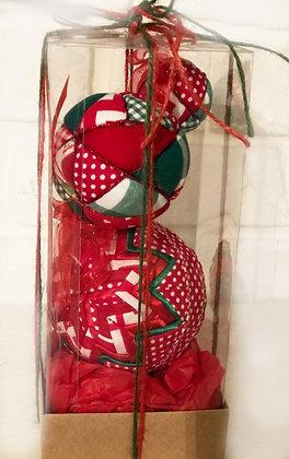 ARMONI SERİSİ - 3 / Kapitone yılbaşı topu - Quilted Ornaments