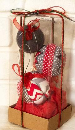 DUET SERİSİ - 1 / Kapitone yılbaşı topu - Quilted Ornaments