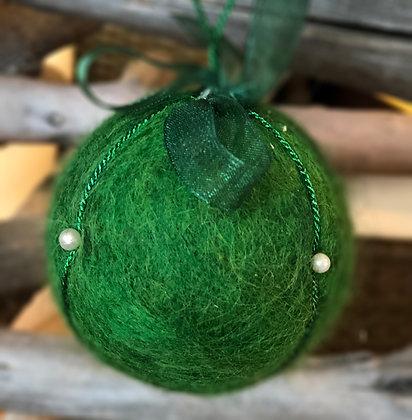 YEŞİM SERİSİ - 1 / Kapitone yılbaşı topu - Quilted Ornaments