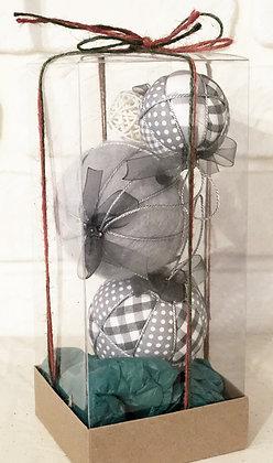 DUMAN SERİSİ - 1 / Kapitone yılbaşı topu - Quilted Ornaments