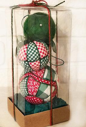 ARMONI SERİSİ - 2 / Kapitone yılbaşı topu - Quilted Ornaments