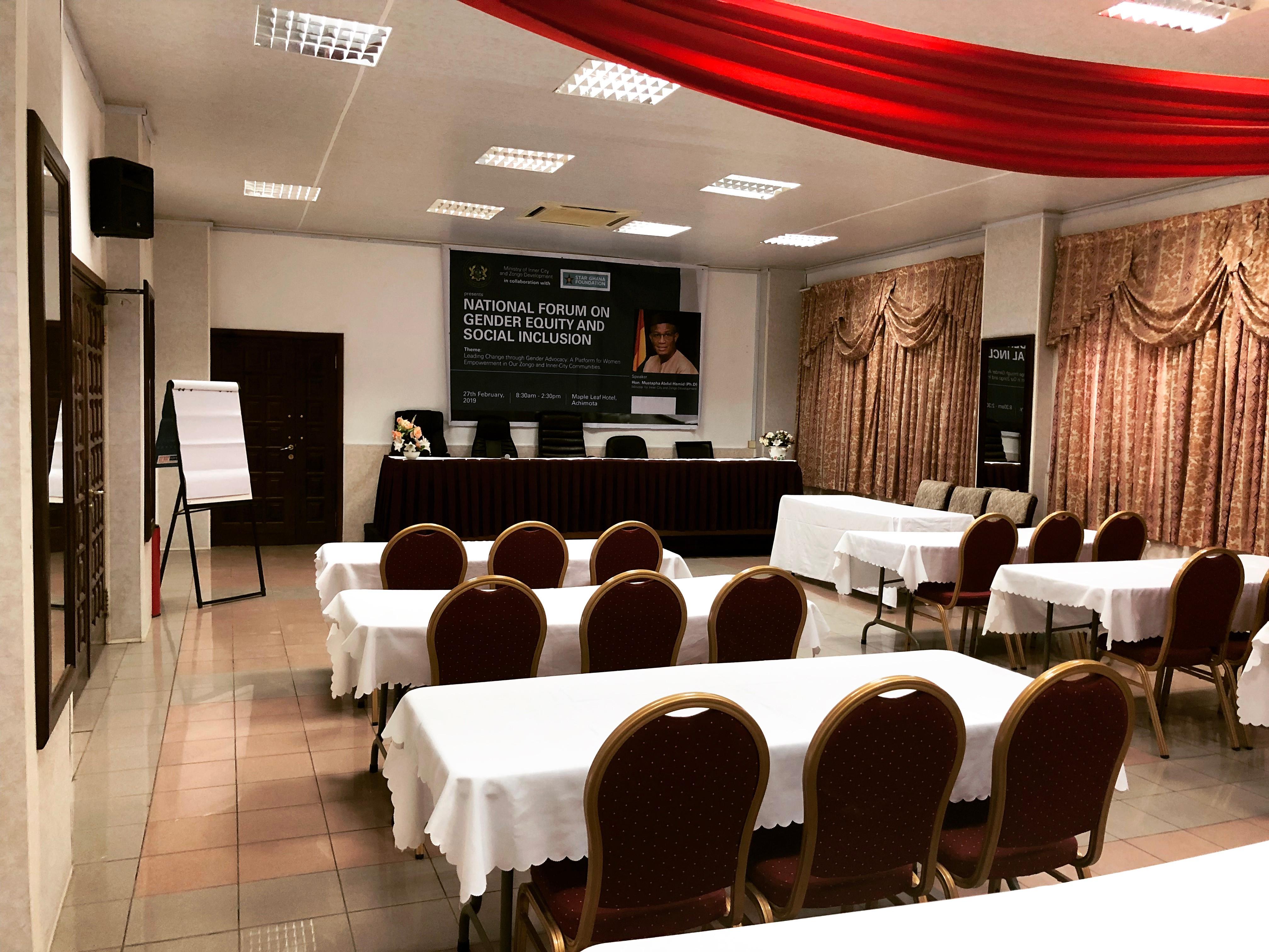Conference Room Per 1 Day - 1500 Cedis