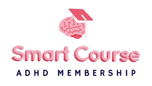 Smart Course - ADHD Membership Logo - Wh