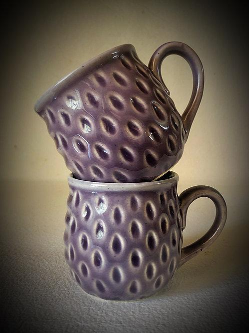 PotteryDen Cool Lavender Tea Cup Set of 2
