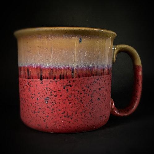 PotteryDen Red & Brown Maggie Mug