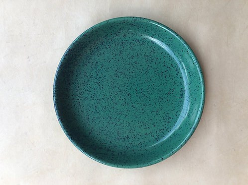 Magic Peacock Green Blate - Mix of Bowl and Plate