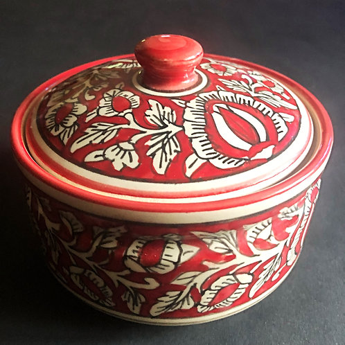 Festive Traditional Curd Pot With Lid (Medium)