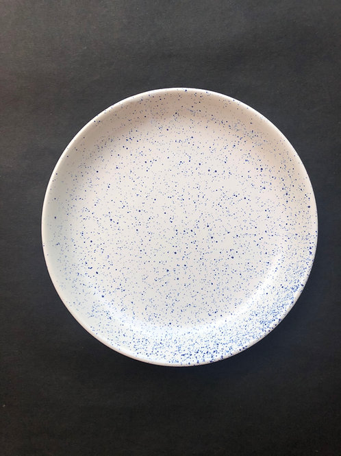 Santorini White & Blue Spec Blate - Mix of Bowl and Plate