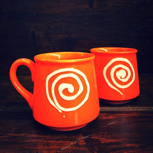 Fiery Orange Coffee cup