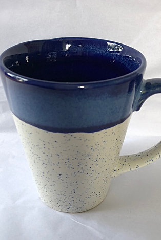 Santorini White with blue speckles Coffee Mug