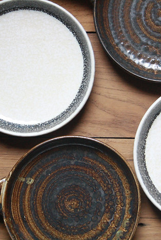 Royal Marble and Earthy Rustic Pizza Plate - Set of 2 Pieces
