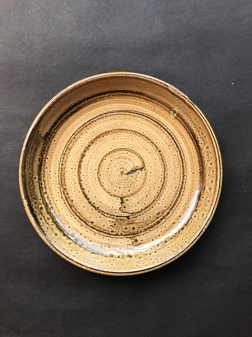 Earthy Rustic Brown Blate - Mix of Bowl and Plate