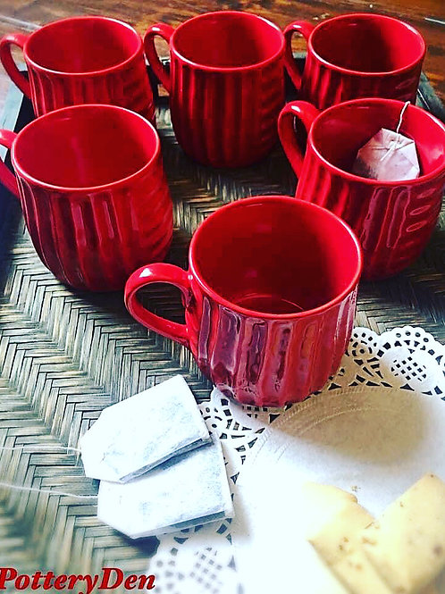 Red Hot 6 Piece Coffee Cup Set