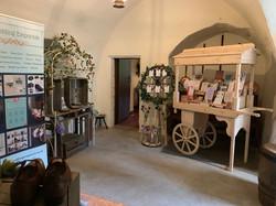 Set up at Crathes Castle wedding fair