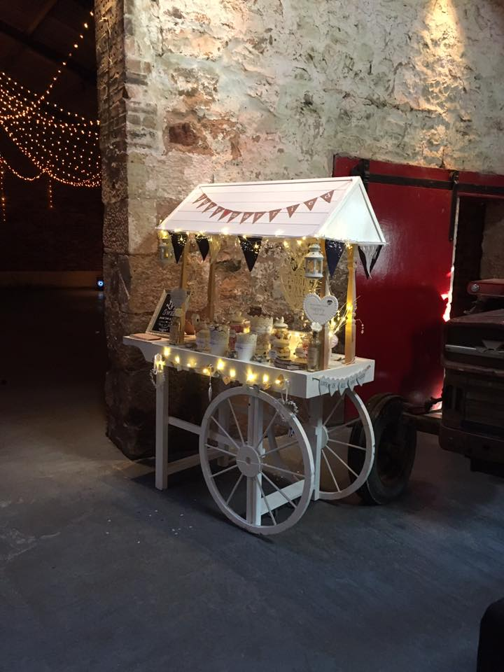 Candy cart at Kinkell Byre, St Andrews