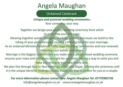 Angela Maughan Ordained Celebrant