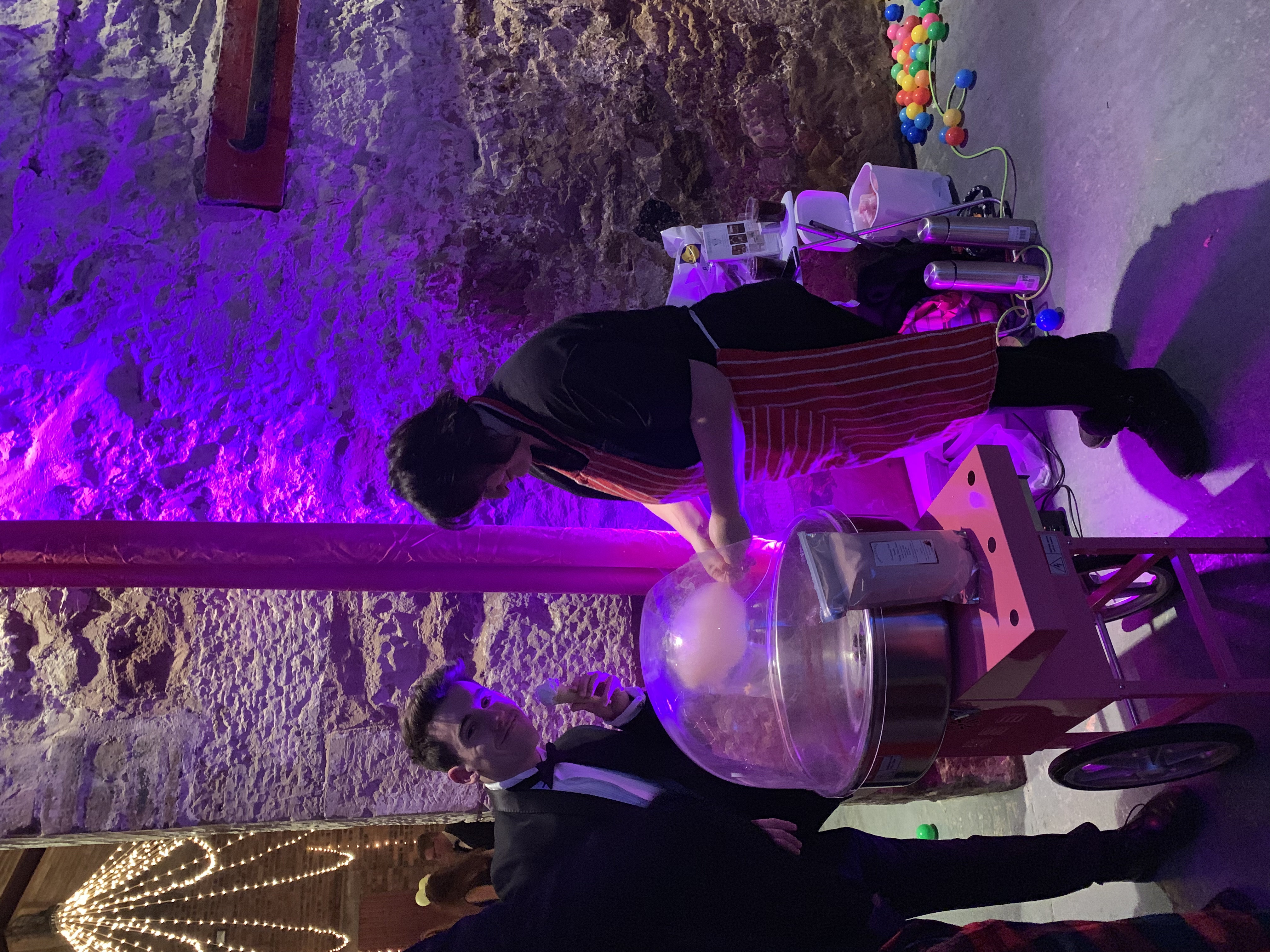 Candy floss at Bute Ball, Kinkell Byre, St Andrews