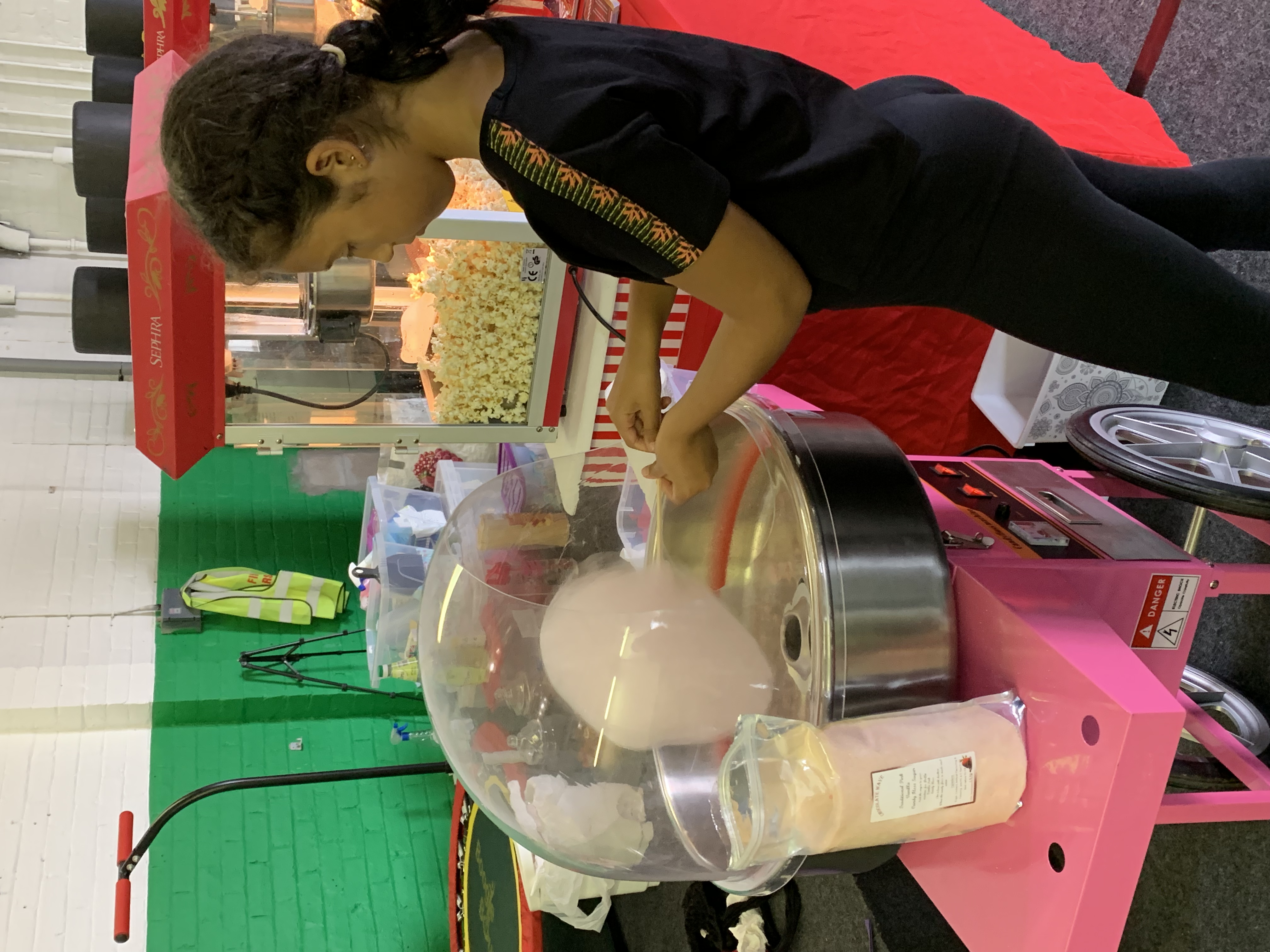 Popcorn & candy floss at summer fair Montrose