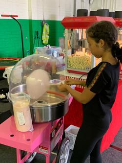 Popcorn & candy floss at summer fair Montrose