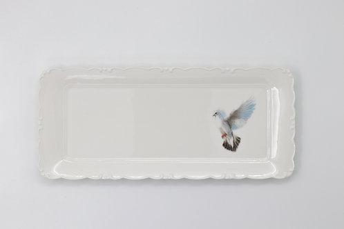 White Dove Platter  מגש יונה לבנה