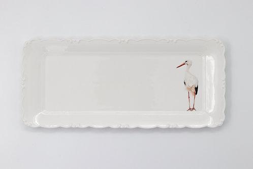 White Stork platter  מגש חסידה