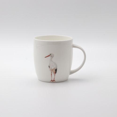 White Stork  mug  ספל חסידה
