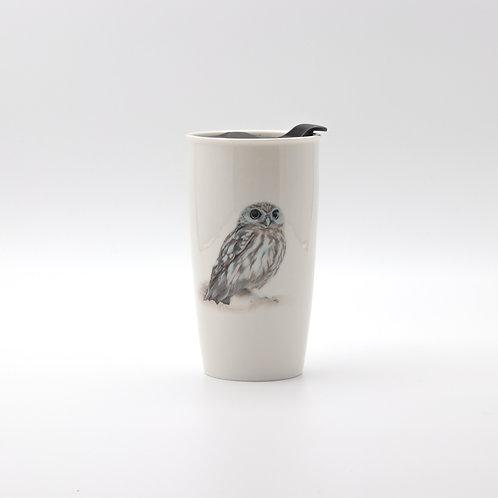 Little owl Travel mug  ספל דרך כוס החורבות