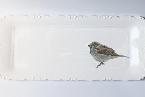 House Sparrow Platter  מגש דרור הבית