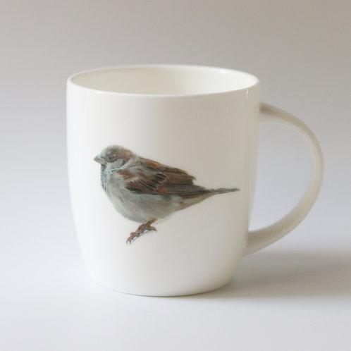 House Sparrow mug  ספל דרור הבית