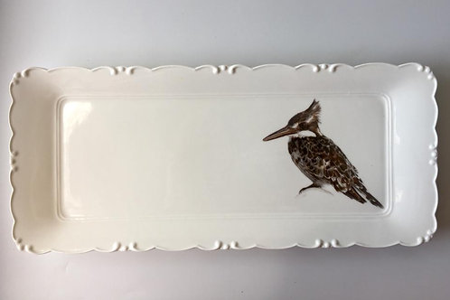Pied Kingfisher Platter  מגש פרפור עקוד