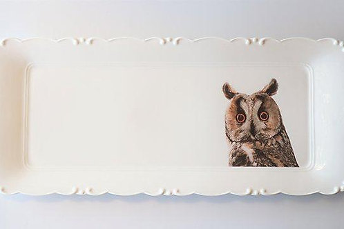 Long eared owl Platter   מגש ינשוף עצים