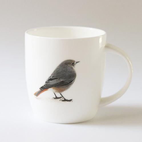 Black Redstart mug  ספל חכלילית סלעים