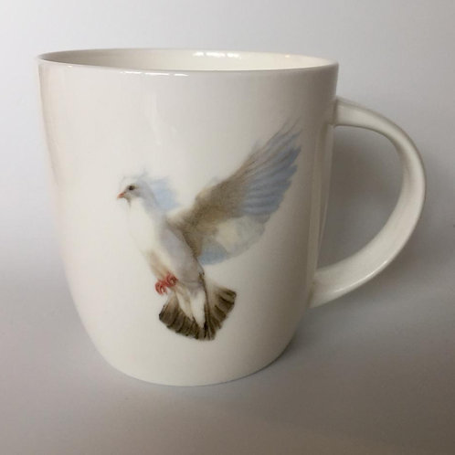 White Dove  mug  ספל יונה לבנה