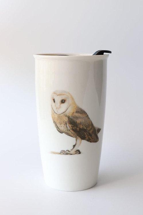 Barn owl  Travel mug  ספל דרך תנשמת